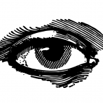 Hand Drawn Eye Vector (SVG, PNG)