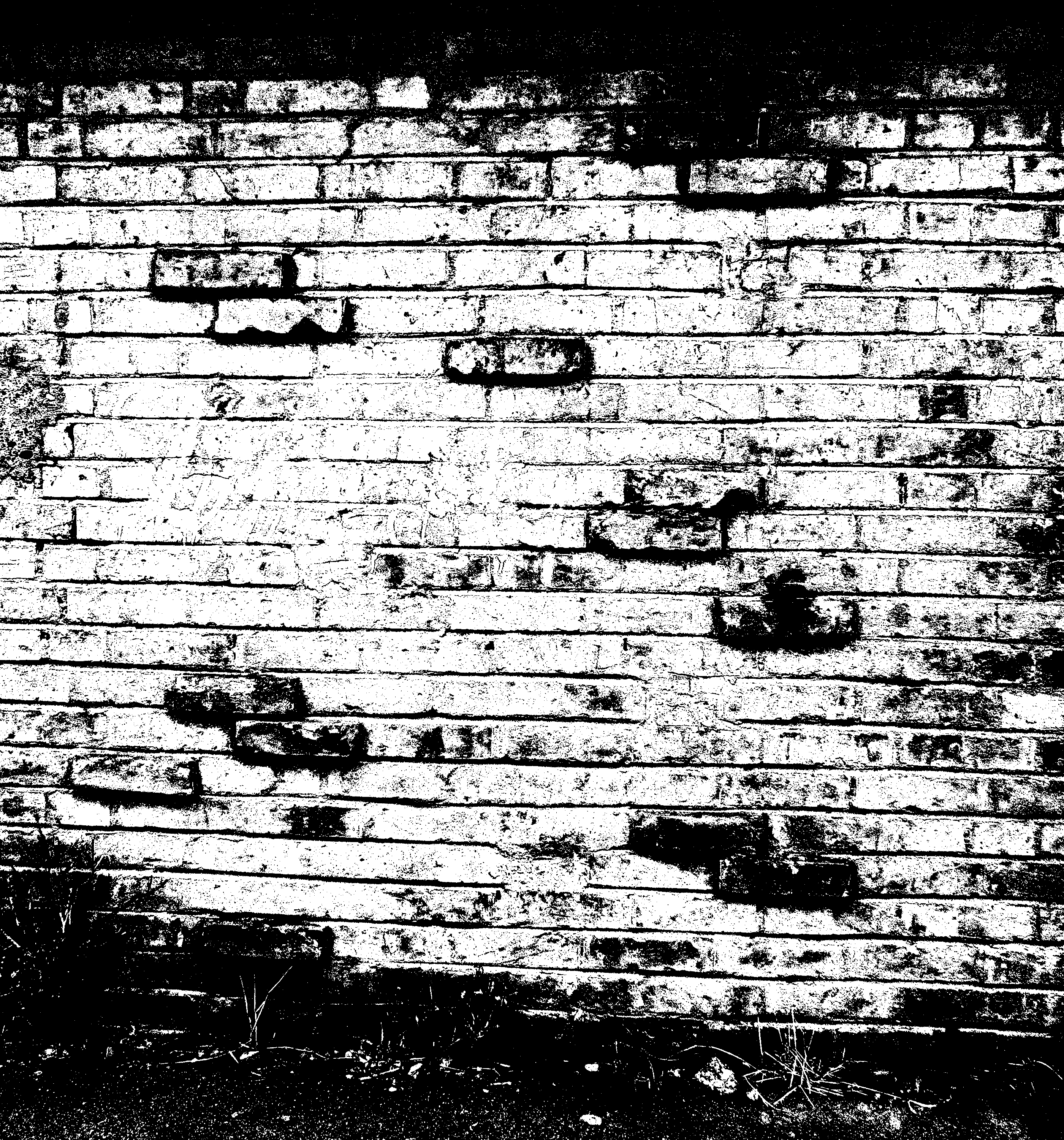 Black Brick Wall brick wall in black and white textures (png) | onlygfx
