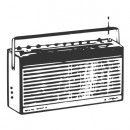 Old Radio Vector (EPS, SVG, PNG)