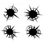 Bullet Hole Vector Set (EPS, SVG, PNG Transparent)
