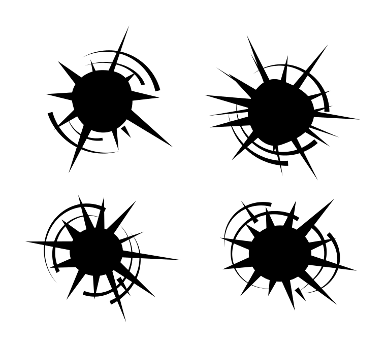 bullet hole vector set eps svg png transparent onlygfx com rh onlygfx com free vector bullet holes