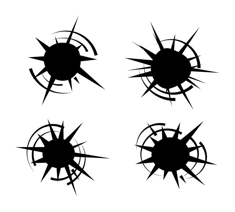 bullet hole vector set eps svg png transparent onlygfx com rh onlygfx com bullet holes vector illustrator vector bullet holes free