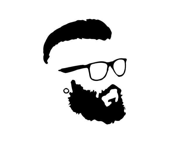 Hipster Beard and Glas...