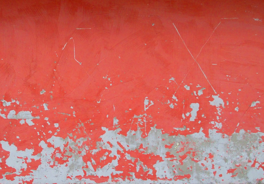 peeling-red-wall