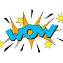 Wow Sound Blast Effect Illustration Vector (EPS, SVG, PNG)