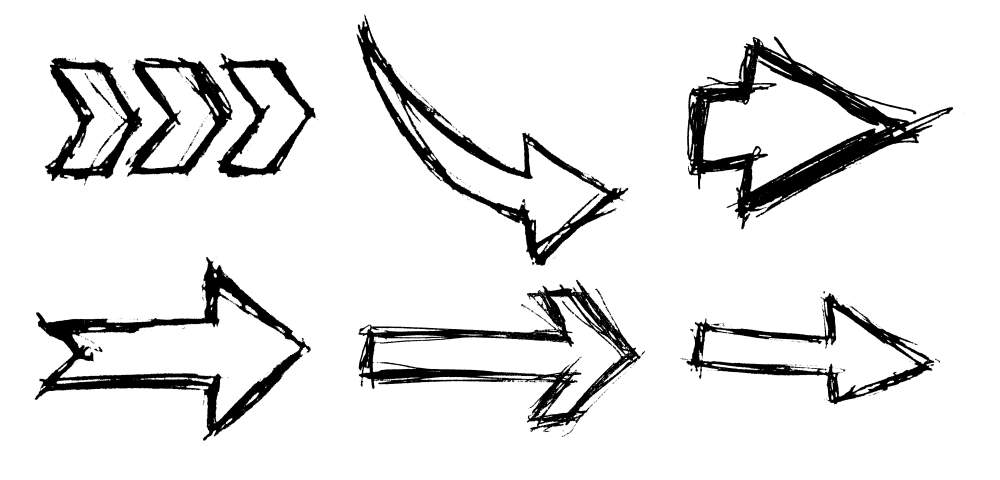 Hand Drawn Arrows Png Image Transparent Onlygfx Com Hand arm drawing, hands png. hand drawn arrows png image transparent