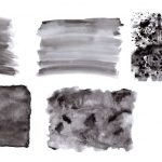 5 Black Watercolor Textures (JPG)