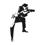 Spy Man Taking Photo Vector (EPS, SVG, PNG)