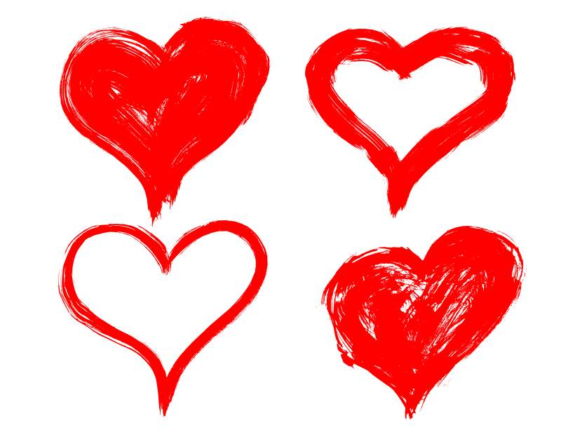 hand drawn heart png transparent