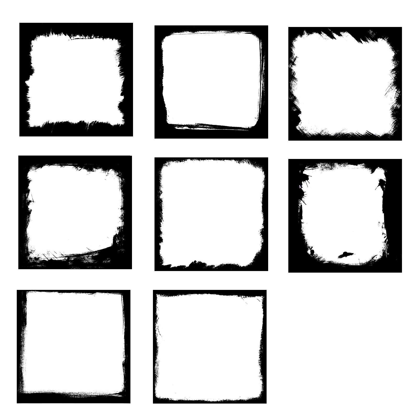 8 Square Grunge Frame (PSD, PNG Transparent) | OnlyGFX com
