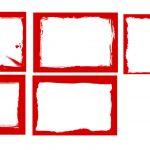 Red Grunge Frames (PSD, SVG, PNG Transparent)