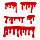 5 Blood Drip Vectors (SVG, PNG Transparent)
