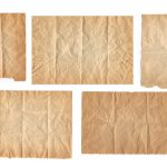 5 Crumpled and Folded Old Paper Textures (JPG)