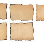 5 Old Paper Burnt Edges Textures (JPG)
