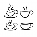Simple Coffee Cup Shape Vectors (SVG)