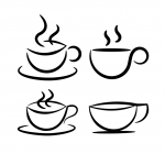Simple Coffee Cup Shape Vectors (SVG)