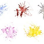 5 Watercolor Splatter Textures (JPG)