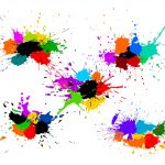 5 Colorful Paint Splash Background Vector (SVG)