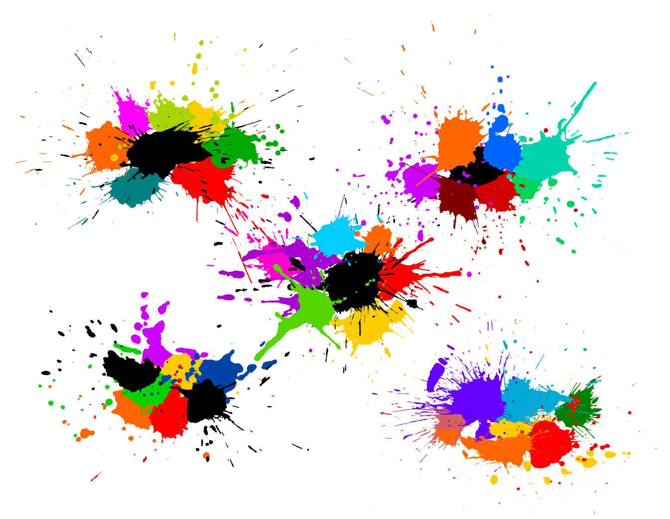 5 Colorful Paint Splash Background Vector (SVG)   OnlyGFX com
