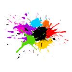 5 Colorful Paint Splash Background Vector (SVG)