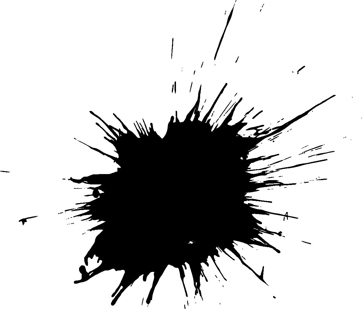 Paintball splatter black background