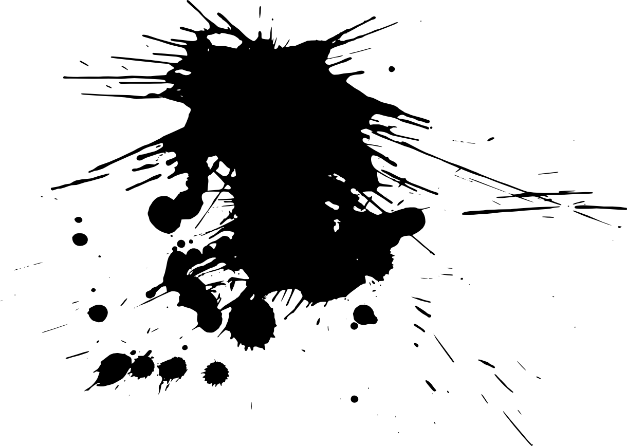 Black Paint Splash Vector