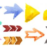 10 Watercolor Arrows (PNG Transparent)