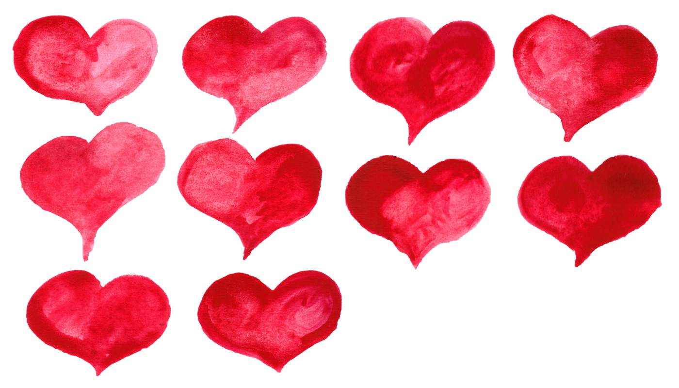 10 red watercolor heart png transparent onlygfxcom