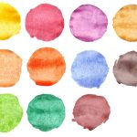 11 Watercolor Circles (PNG Transparent)