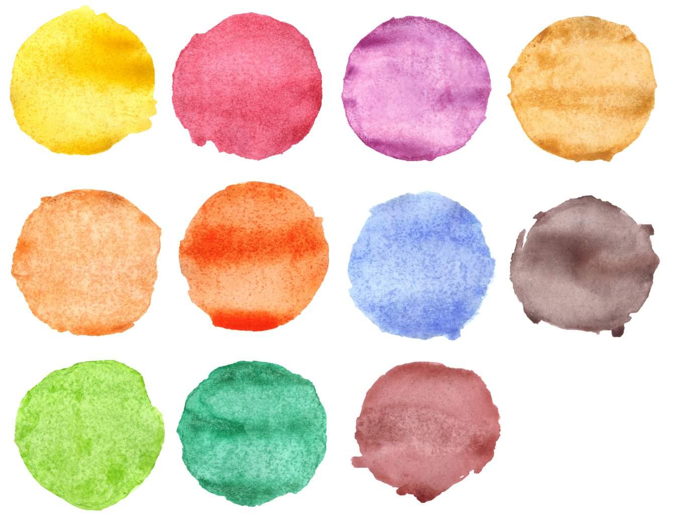 11 watercolor circles png transparent onlygfx com