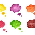 6 Watercolor Balloon Speech Bubbles (PNG Transparent)