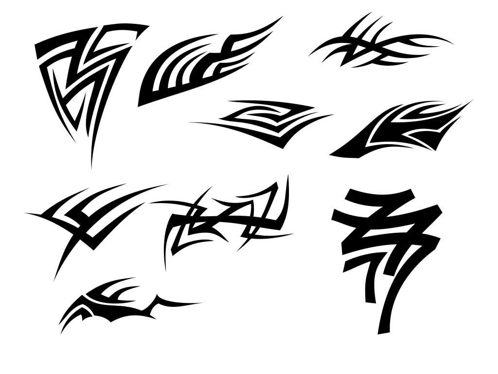9 Tribal Tattoo (PNG Transparent) Vol. 2
