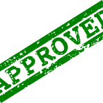 5 Red Green Approved Stamp (PNG Transparent)