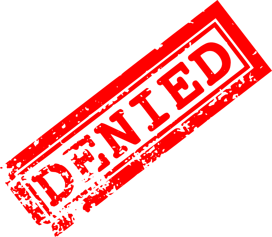 5 Red Denied Stamp (PNG Transparent) | OnlyGFX.com