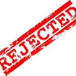 5 Red Rejected Stamp (PNG Transparent)