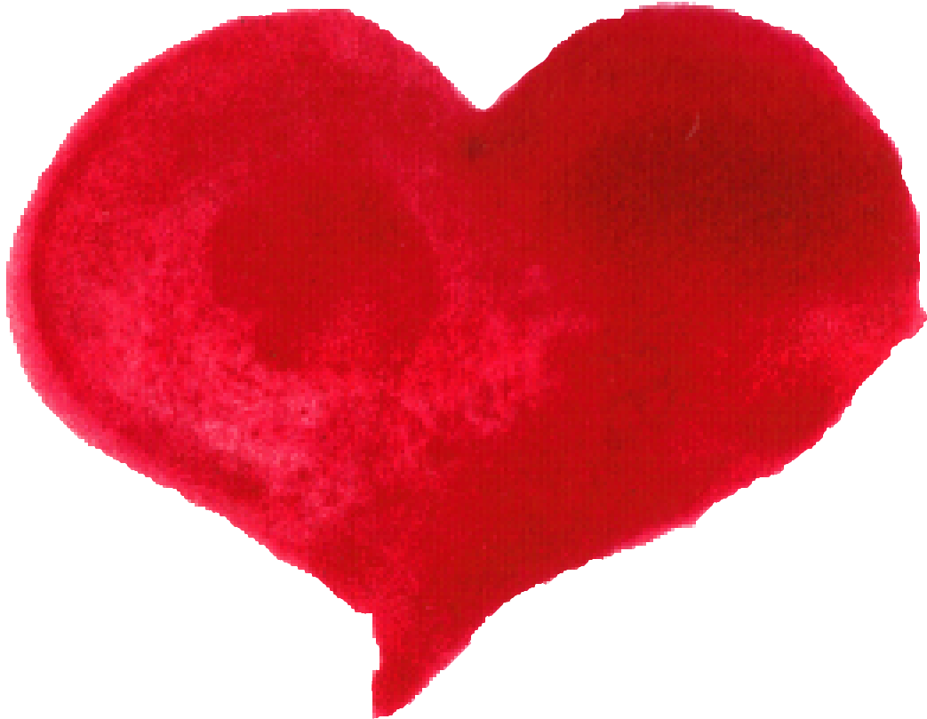 10 Red Watercolor Heart Png Transparent Onlygfx Com