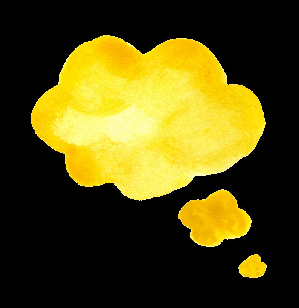yellow-watercolor-speech-bubble