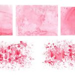 5 Pink Watercolor Textures (JPG)