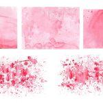 5 Pink Watercolor Textures (JPG)