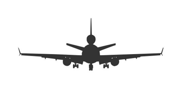 silhouette airplane svg free