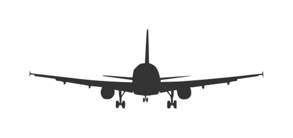 airplane-front-view-silhouette-4