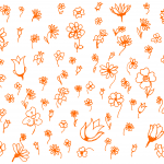 Flower Doodle Background (PNG)