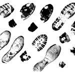 10 Shoe Footprints (PNG Transparent)