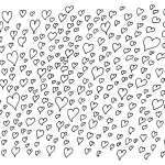 Heart Doodle Background (PNG)