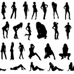 30 Woman Silhouettes (PNG Transparent)
