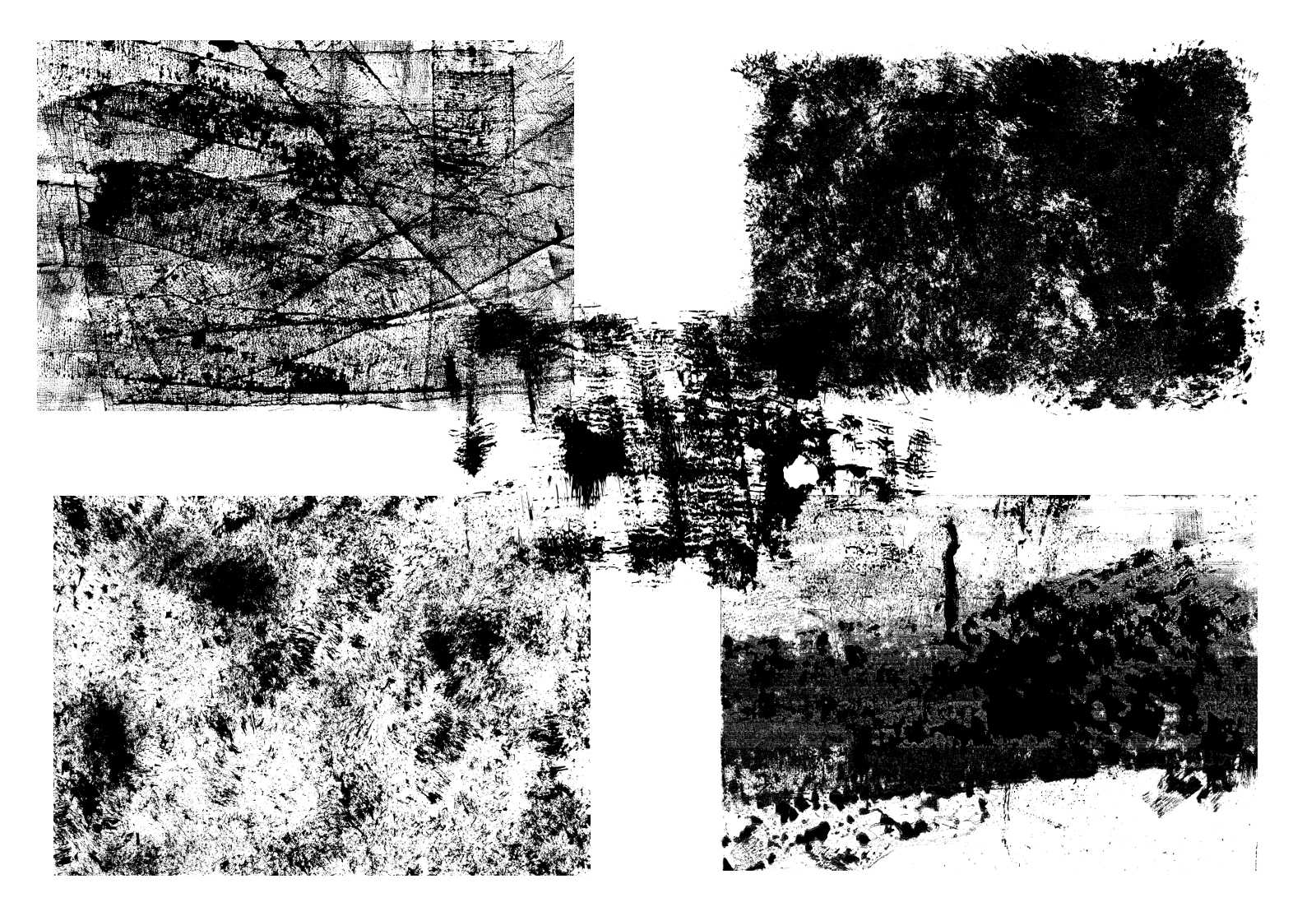 5 Grunge Overlay Textures (PNG Transparent)   OnlyGFX com