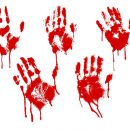 5 Red Bloody Handprint (PNG Transparent)