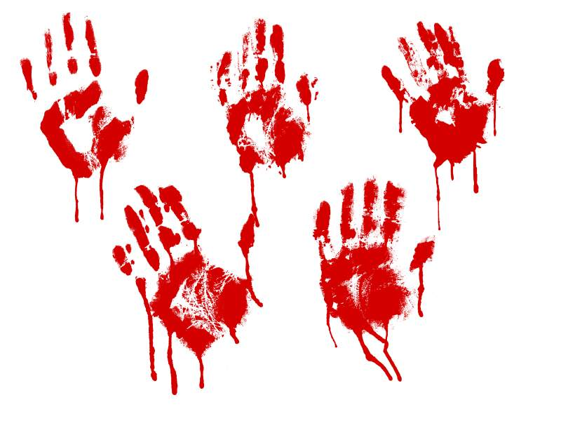picture relating to Printable Handprints known as 5 Purple Bloody Handprint (PNG Clear)