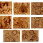 8 High Resolution Coffee Stain Background Textures (JPG)