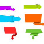 6 Arrow Banners Vector (PNG Transparent, SVG)